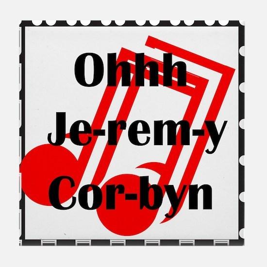 Jeremy Corbyn Tile Coaster