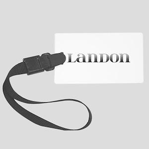 Landon Carved Metal Large Luggage Tag