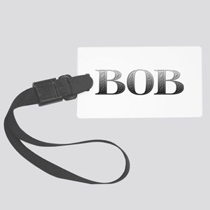 Bob Carved Metal Large Luggage Tag
