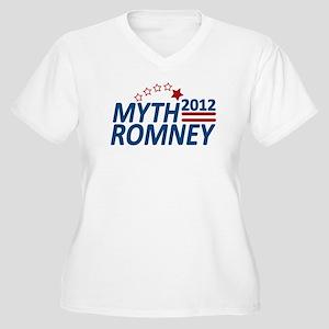 Myth Romney Anti Mitt 2012 Women's Plus Size V-Nec