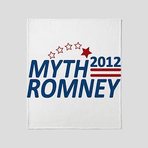Myth Romney Anti Mitt 2012 Throw Blanket