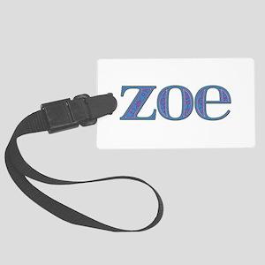 Zoe Blue Glass Large Luggage Tag