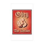 ObeyDeciderB Sticker (Rectangle 50 pk)
