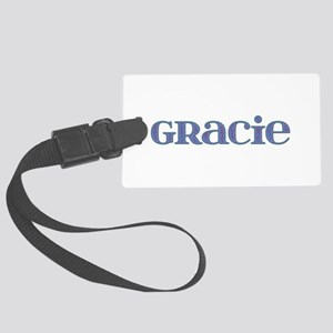 Gracie Blue Glass Large Luggage Tag