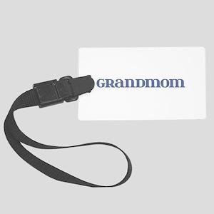 Grandmom Blue Glass Large Luggage Tag