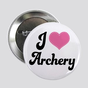 """I Love Archery 2.25"""" Button"""