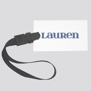 Lauren Blue Glass Large Luggage Tag