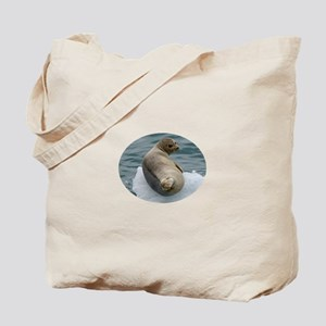 seal resting on ice Tote Bag