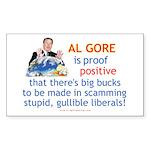 AlGore conman trsp 2 Sticker (Rectangle 10 pk)