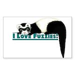 ferret wrd Sticker (Rectangle 10 pk)