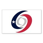 Texas Hurricanes Sticker (Rectangle 50 pk)
