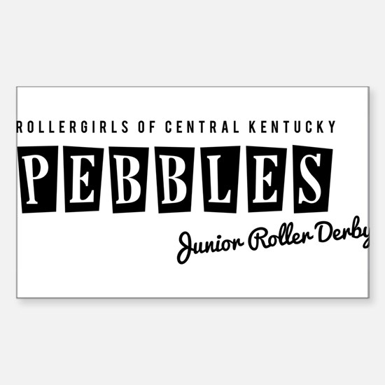 Pebbles Junior Derby Logo1 Sticker (Rectangle)