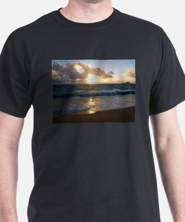 Sunrise on Waimanalo Beach T-Shirt
