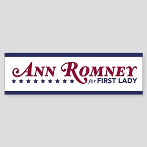 Ann Romney For First Lady (Red, White, Blue) Stick