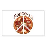 Peace-za Sticker (Rectangle 10 pk)