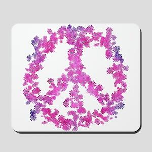 Dazzled Flower Peace Mousepad