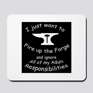 Fire up the forge Blacksmith Mousepad