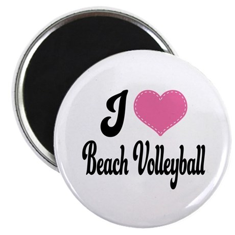 I Love Beach Volleyball Magnet