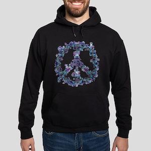 Harmony Flower Peace Hoodie (dark)