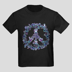 Harmony Flower Peace Kids Dark T-Shirt