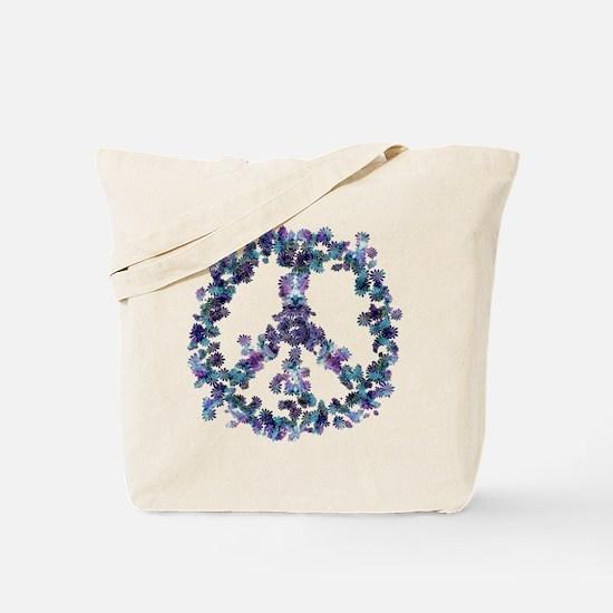 Harmony Flower Peace Tote Bag