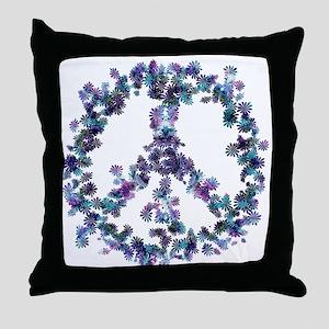 Harmony Flower Peace Throw Pillow