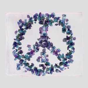 Harmony Flower Peace Throw Blanket
