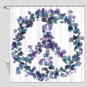 Harmony Flower Peace Shower Curtain