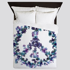 Harmony Flower Peace Queen Duvet