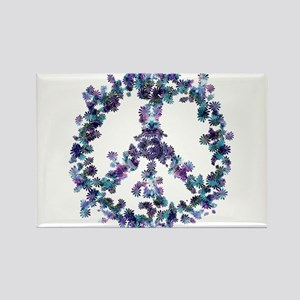 Harmony Flower Peace Rectangle Magnet