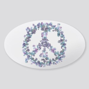 Harmony Flower Peace Sticker (Oval)