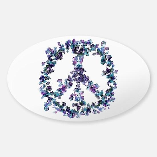 Harmony Flower Peace Sticker (Oval)