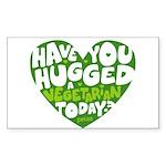 LIGHThugavegetarian Sticker (Rectangle 50 pk)