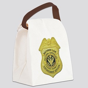 retired law enf officer Canvas Lunch Bag