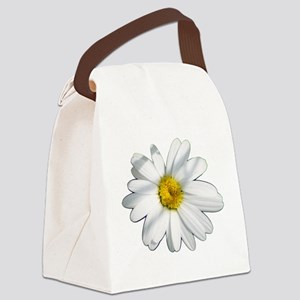 White daisy Canvas Lunch Bag