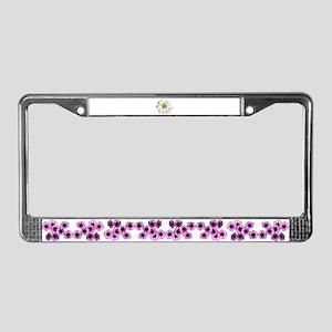 White daisy License Plate Frame