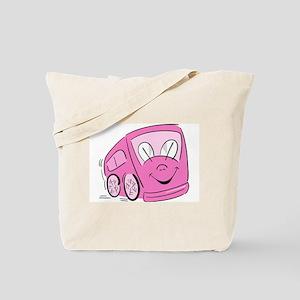 PINK HAPPY BUS Tote Bag
