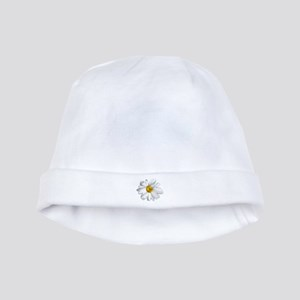 White daisy baby hat