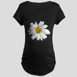 White daisy Maternity Dark T-Shirt