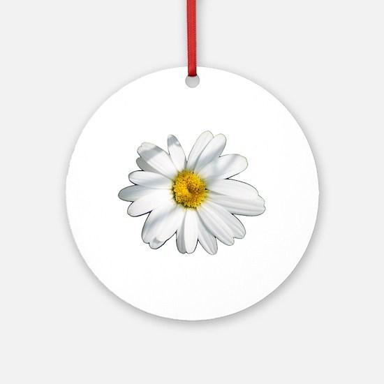 White daisy Ornament (Round)