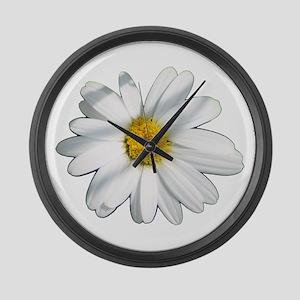 White daisy Large Wall Clock