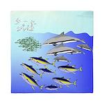 Tuna Birds Dolphins attack sardines Queen Duvet