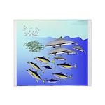 Tuna Birds Dolphins attack sardines Stadium Blank