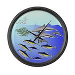 Tuna Birds Dolphins attack sardines Large Wall Clo