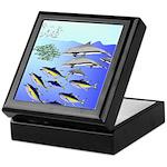 Tuna Birds Dolphins attack sardines Keepsake Box