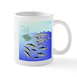 Tuna Birds Dolphins attack sardines Mug