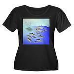 Tuna Birds Dolphins attack sardines Women's Plus S