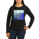 Tuna Birds Dolphins attack sardines Women's Long S