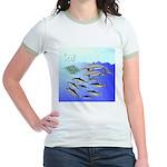 Tuna Birds Dolphins attack sardines Jr. Ringer T-S