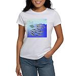 Tuna Birds Dolphins attack sardines Women's T-Shir